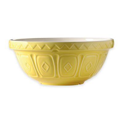 Mason Cash® Earthenware Geometric Embossed 2.75 qt. Mixing Bowl in Yellow