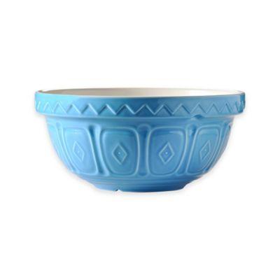 Mason Cash® Earthenware Geometric Embossed 2 qt. Mixing Bowl in Blue