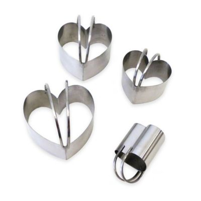 Endurance® Heart-Shape Stainless Steel Biscuit Cutters (Set of 4)
