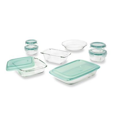 OXO Good Grips® 14-Piece Glass Baking Dish Set with Lids in Green