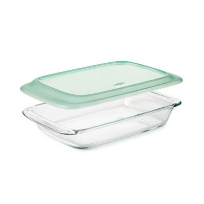 OXO Good Grips® 3 qt. Oblong Glass Baking Dish with Lid