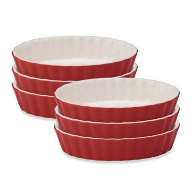 Mrs. Anderson's Baking® Oval Crème Brulee Bowls in Red (Set of 6)