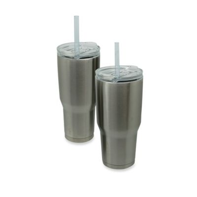 Insulated Tumbler with Lid and Straw