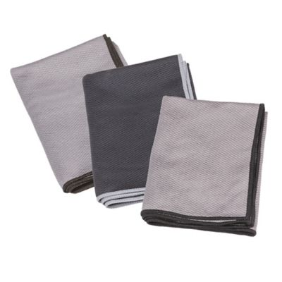 The Original™ 3-Pack Magic Glass Drying Towels in Grey