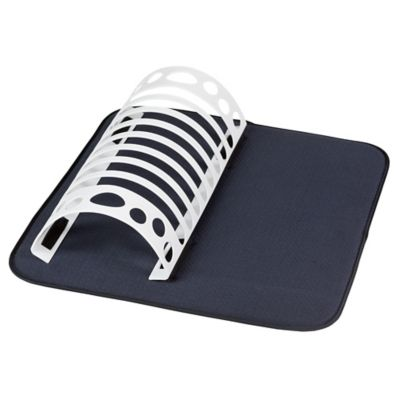 The Original™ Dish Drying Mat with Rack in Black/Grey
