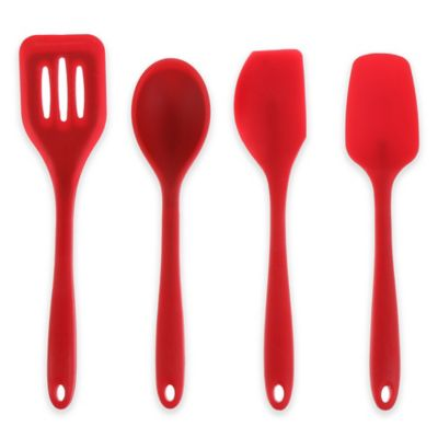 Silicone Utensils in Red (Set of 4)