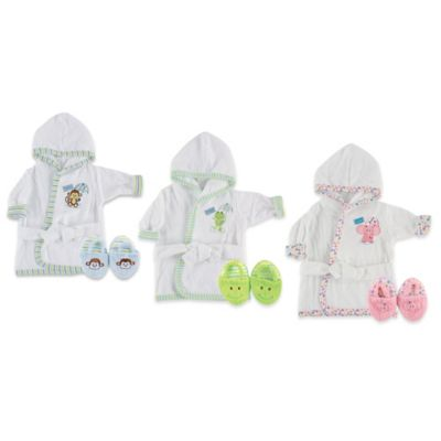 Baby Vision® Luvable Friends® Bathrobe and Slippers in Green