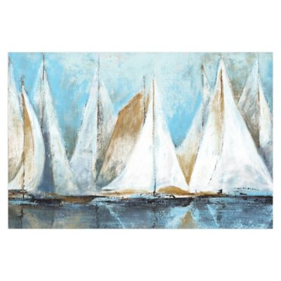 Sail Away 48-Inch x 32-Inch Canvas Wall Art