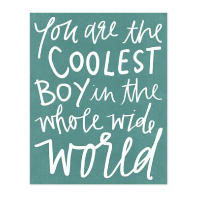 The Coolest Boy 8-Inch x 10-Inch Canvas Wall Art