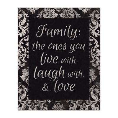 Family Love 8-Inch x 10-Inch Canvas Wall Art