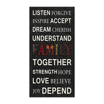"""Pied Piper Creative Collection """"Family"""" Inspiration Canvas Wall Art"""