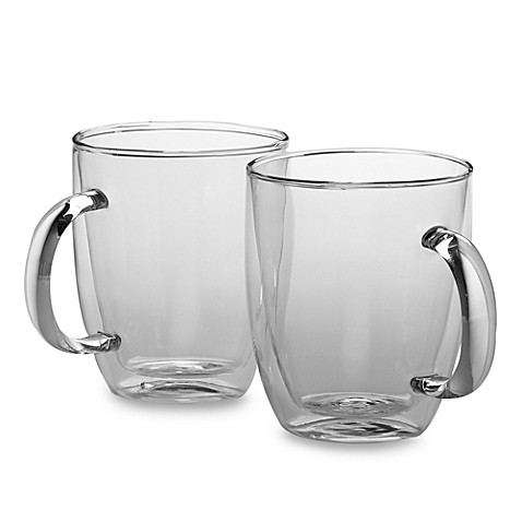 Bodum Bistro Double Wall 15-Ounce Jumbo Mug (Set of 2)