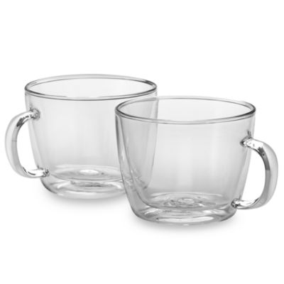Bodum Bistro Double Wall 15-Ounce Cafe Latte Mug (Set of 2)