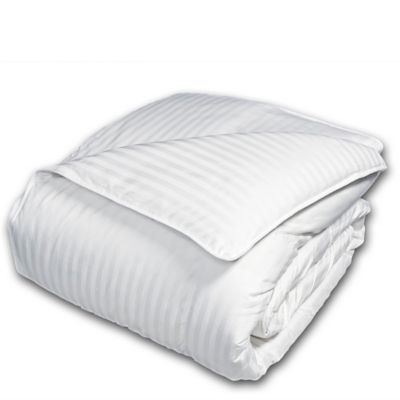 The Seasons Collection® Light Warmth Down Twin Comforter with Damask Stripe