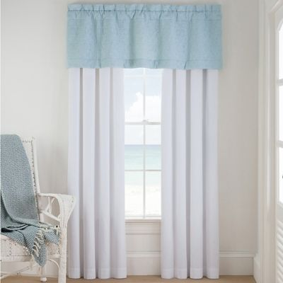 Coastal Life Luxe Sonoma 84-Inch Rod Pocket Window Curtain Panel Pair in White