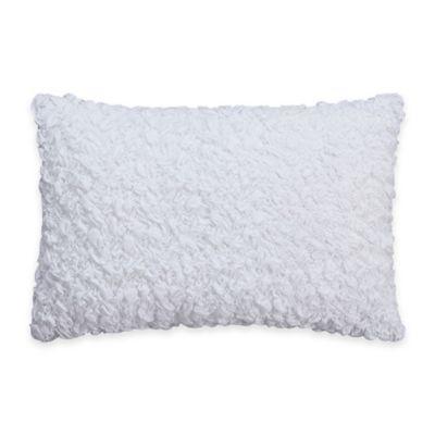 Coastal Life Luxe Sonoma Textured Oblong Throw Pillow in White