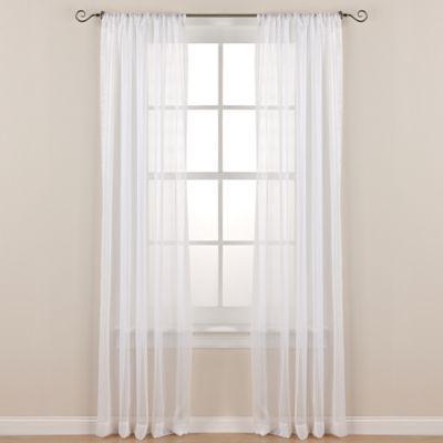 Sloan Street 84-Inch Rod Pocket Sheer Window Curtain Panel in White