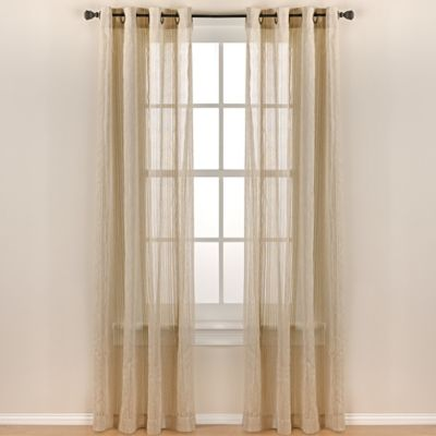 Contour 84-Inch Grommet Top Sheer Window Curtain Panel in Taupe