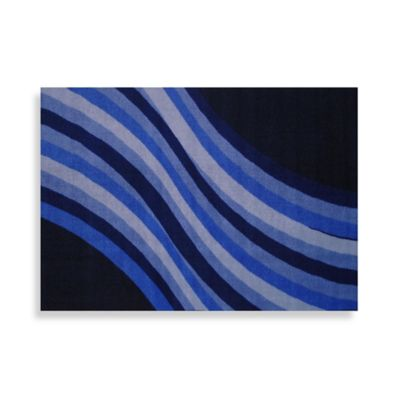 Fun Rugs® Wacky Blue Wave 1-Foot x 2-Foot Accent Rug