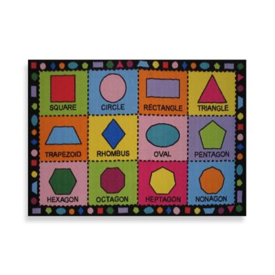 Fun Rugs® Shapes 4-Foot 3-Inch x 6-Foot 6-Inch Area Rug