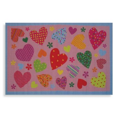 Fun Rugs™ Hearts 1-Foot 7-Inch x 2-Foot 5-Inch Accent Rug in Pink