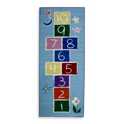 Fun Rugs 1-Foot 7-Inch x 2-Foot 5-Inch Primary Hopscotch Rug