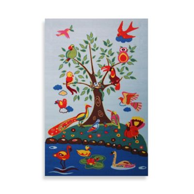 Fun Rugs® Birds of Paradise 4-Fioot 3-Inch x 6-Foot 6-Inch Rug