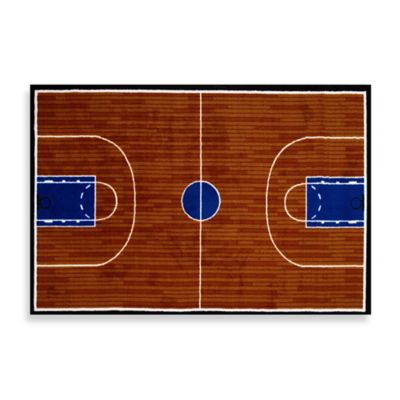 Basketball Court 3-Foot x 4-Foot Accent Rug