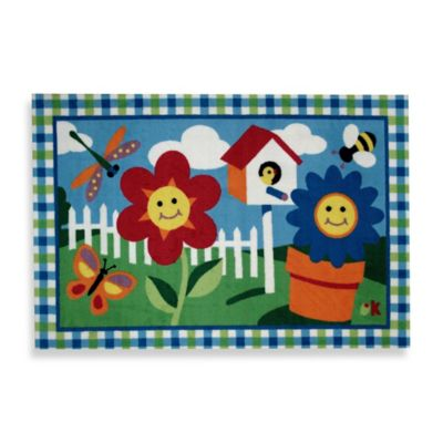 Fun Rugs™ Happy Flowers 3-Foot 3-Inch x 4-Foot 10-Inch Area Rug