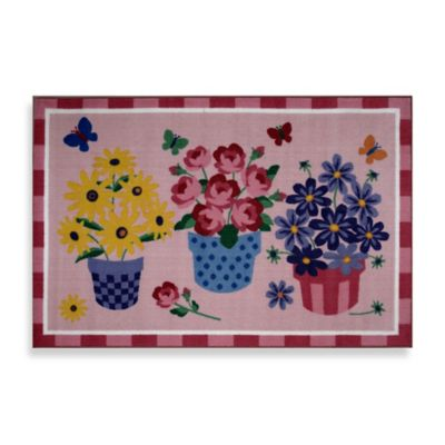 Fun Rugs™ Blossoms & Butterflies 1-Foot 7-Inch x 2-Foot 5-Inch Rug