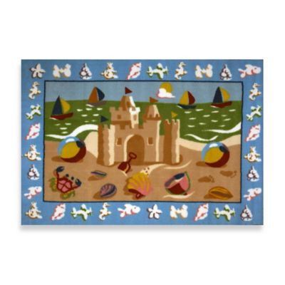 Fun Rugs™ 3-Foot 3-Inch x 4-Foot 10-Inch Sandcastle Area Rug