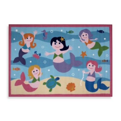 Fun Rugs™ 1-Foot 7-Inch x 3-Foot 5-Inch Mermaids Accent Rug