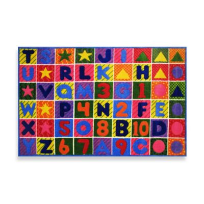 Fun Rugs™ Numbers & Letters 3-Foot 3-Inch x 4-Foot x 10-Inch Rug