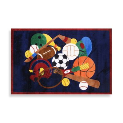 Fun Rugs® Sports America 5-Foot 3-Inch x 7-Foot 6-Inch Area Rug