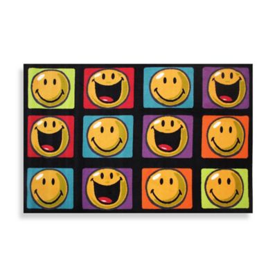 Fun Rugs™ Happy & Smiling 1-Foot 7-Inch x 2-Foot 5-Inch Accent Rug