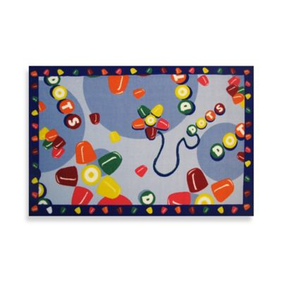 Fun Rugs® Tootsie Roll Dots 1-Foot 7-Inch x 2-Foot 5-Inch Accent Rug