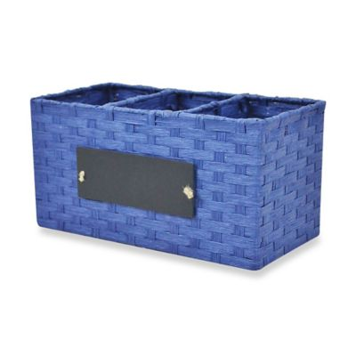 RGI Woven Cord Chalkboard Panel Storage Caddy in Navy