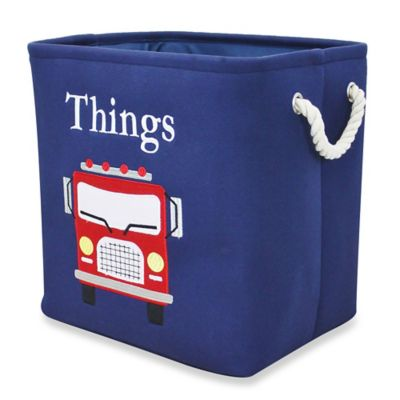 "RGI ""Things"" Storage Tote with Rope Handles in Navy"