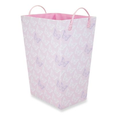 RGI Butterfly Tapered Storage Tote in Pink/Lilac