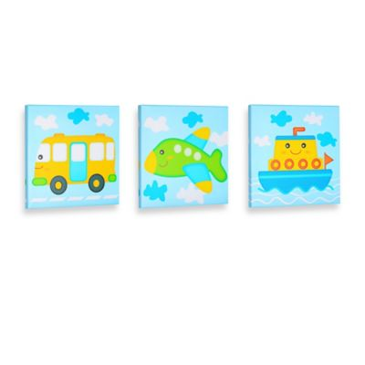 """All Aboard"" Gallery Wrapped Canvas Wall Art"
