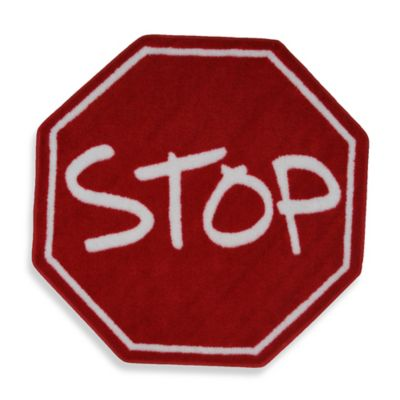 Fun Rugs™ Stop Sign 3-Foot 3-Inch Octagon Rug