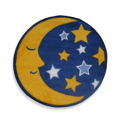 Fun Rugs® Moon & Stars 2-Foot 7-Inch Round Accent Rug