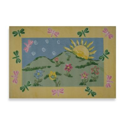 Fun Rugs™ Dragonfly Morning 3-Foot 3-Inch x 4-Foot 10-Inch Area Rug