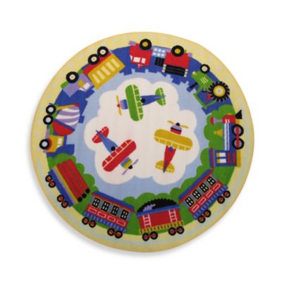 Fun Rugs Transportation 3-Foot 3-Inch Round Rug