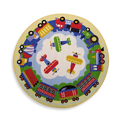 Buy fun rugs transportation 3 foot 3 inch round rug from for Where to buy round rugs