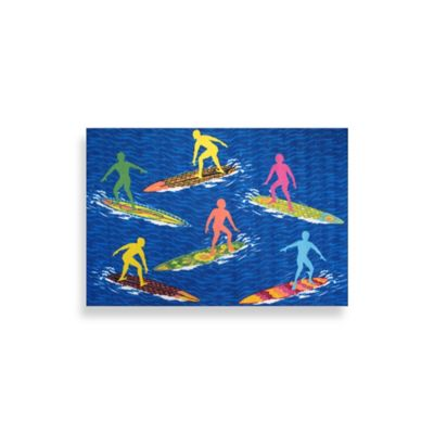 "Fun Rugs™ 3-Foot 3-Inch x 4-Foot 10-Inch Surfs ""R"" Us Area Rug"