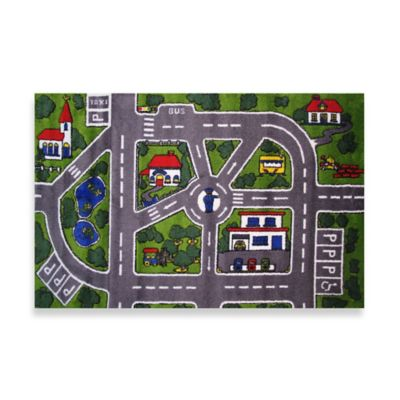 Fun Rugs® Streets 3-Foot 3-Inch x 4-Foot 10-Inch Rug