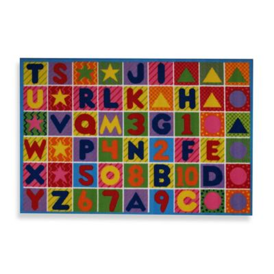 Multi Numbers and Letters Rug