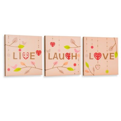 """Live, Love, Laugh"" Gallery Wrapped Canvas Wall Art"