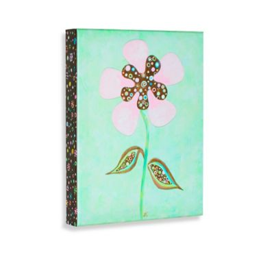 Green Frog Spring is in the Air III Canvas Wall Art